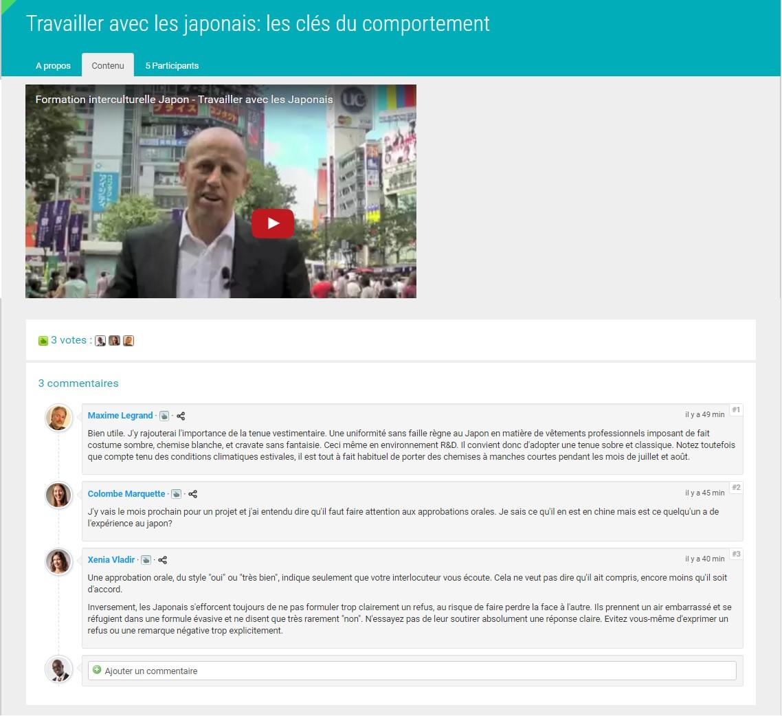 Forum contextuel de social learning